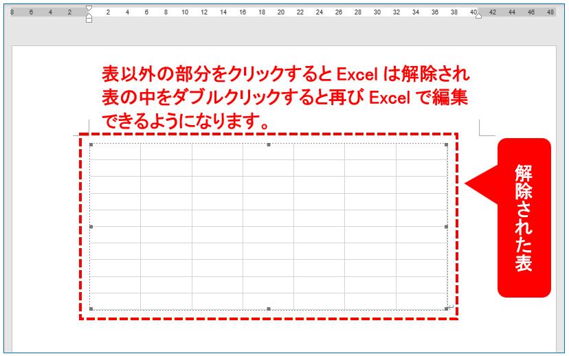 解除された表(イメージ画像)